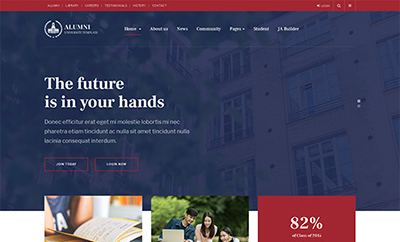 Alumni Joomla education template for school, university - JA Alumni
