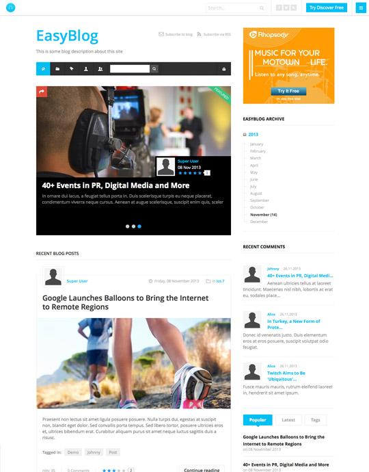 responsive easyblog Joomla template for portfolio - JA Appolio