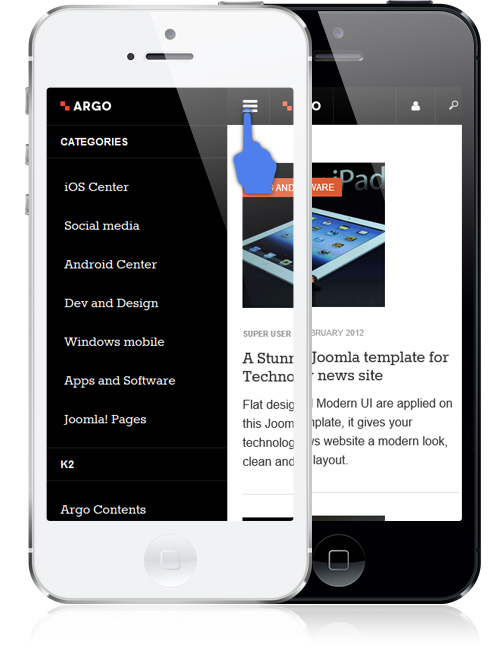 mobile friendly News and magazines Joomla template - JA Argo