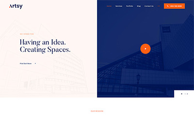 Architecture & Interior Design Joomla Template - JA Artsy