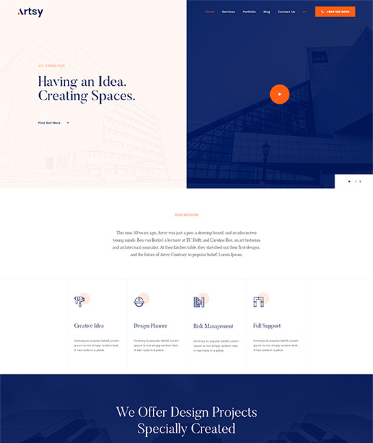 interior design Joomla template - JA Artsy