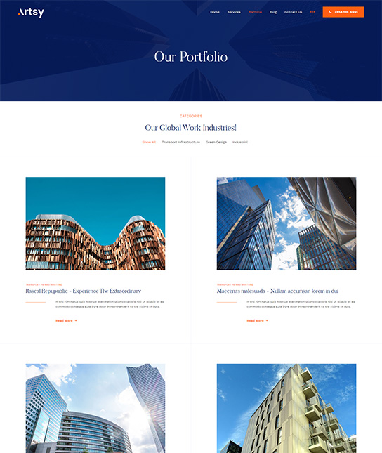Joomla architecture blog template - JA Artsy