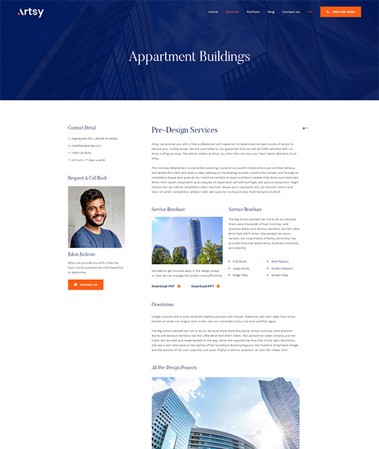 joomla interior design service template - JA Artsy