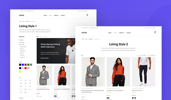 ecommerce joomla template products layout