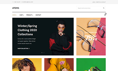 Multipurpose eCommerce Joomla template JA Atoms