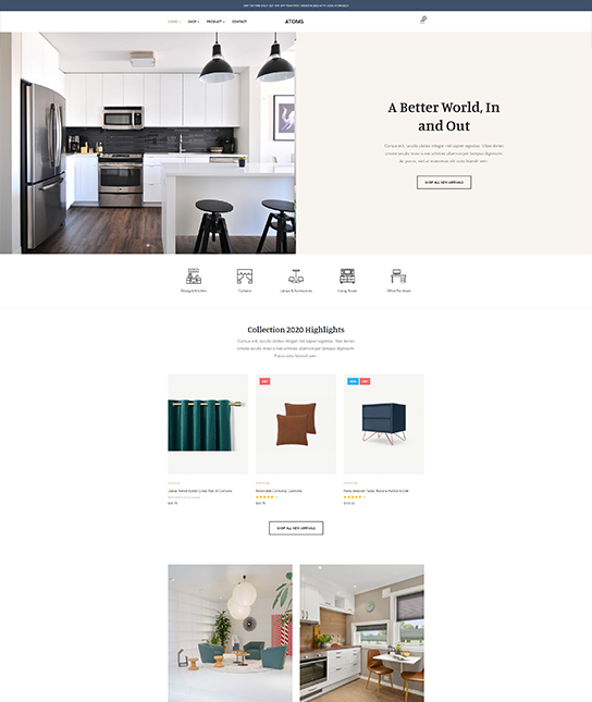 Online shopping joomla ecommerce template - JA Atoms