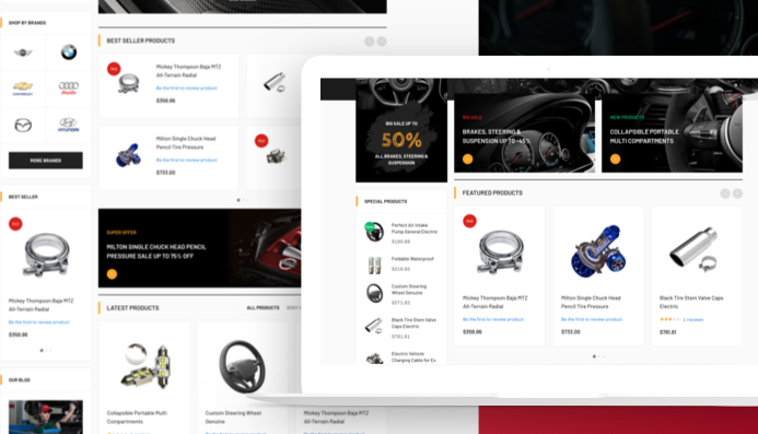 JA Autoshop - Dedicated design for eCommerce, autopshop, automobiles