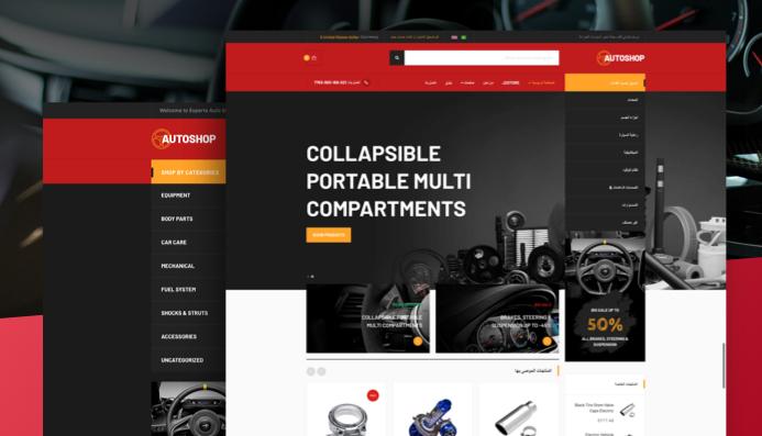 JA Autoshop RTL joomla template