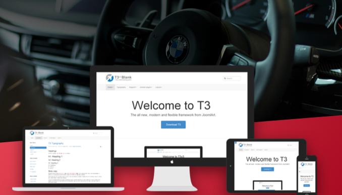 T3 Framework joomla template - JA Autoshop