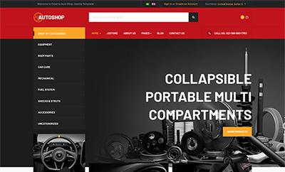 eCommerce Joomla Template - JA Autoshop