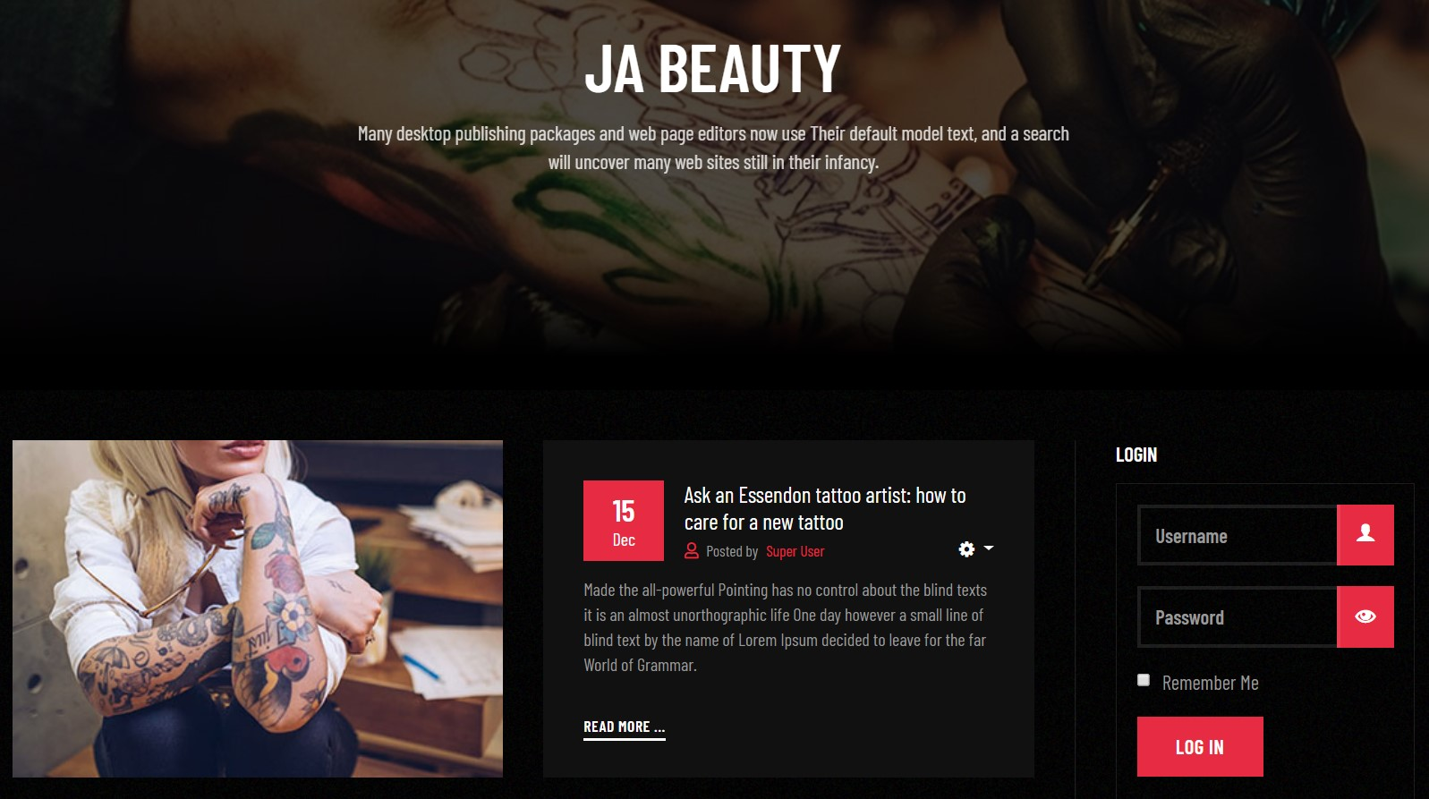 JA Beauty documentation