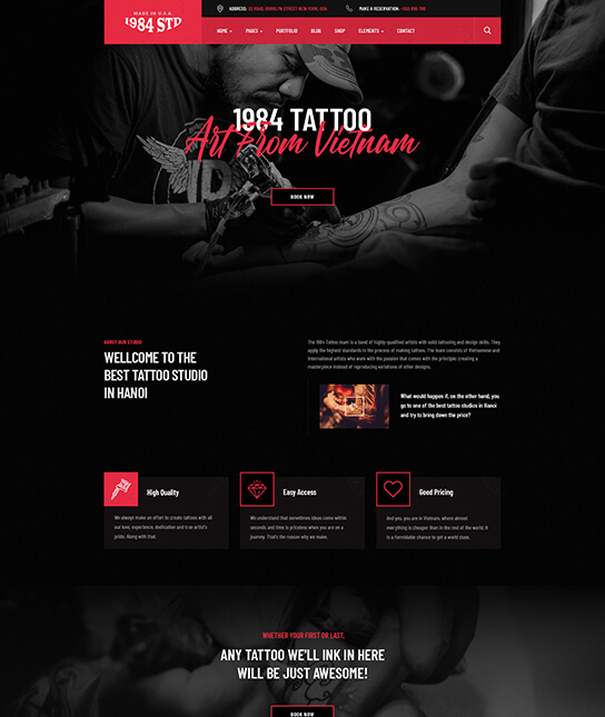Barber Joomla template - JA Beauty