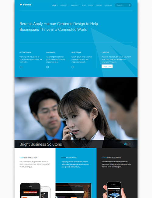 business Joomla template - JA Beranis default layout