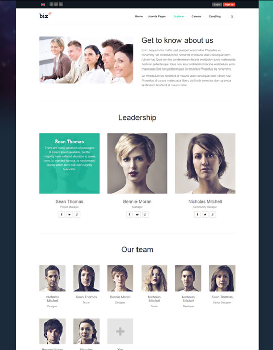 Joomla theme for business websites - JA Biz