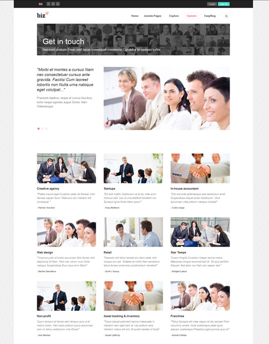 Joomla template for business websites - JA Biz