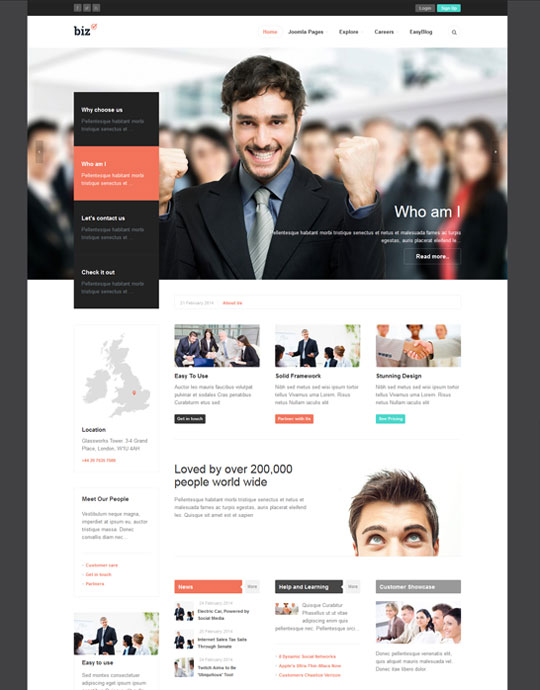 Ja biz responsive joomla template for business joomla templates responsive joomla business template ja biz wajeb Images