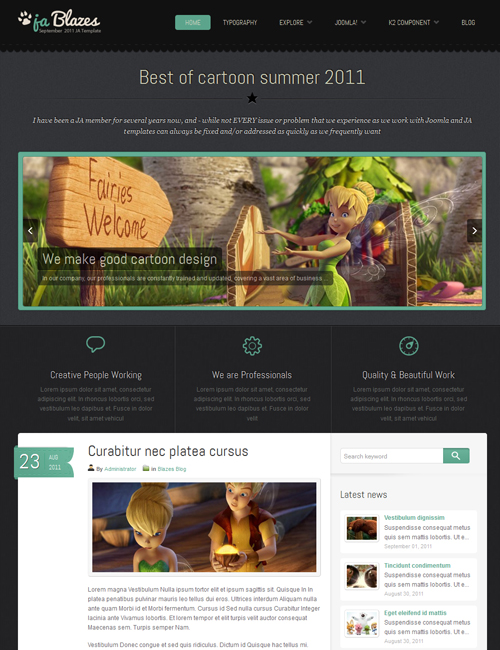 blog Joomlatemplate - JA Blazes green theme