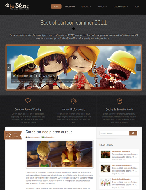 blog Joomlatemplate - JA Blazes orange theme