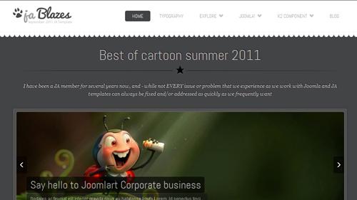 JA Blazes - Blog Joomla Template