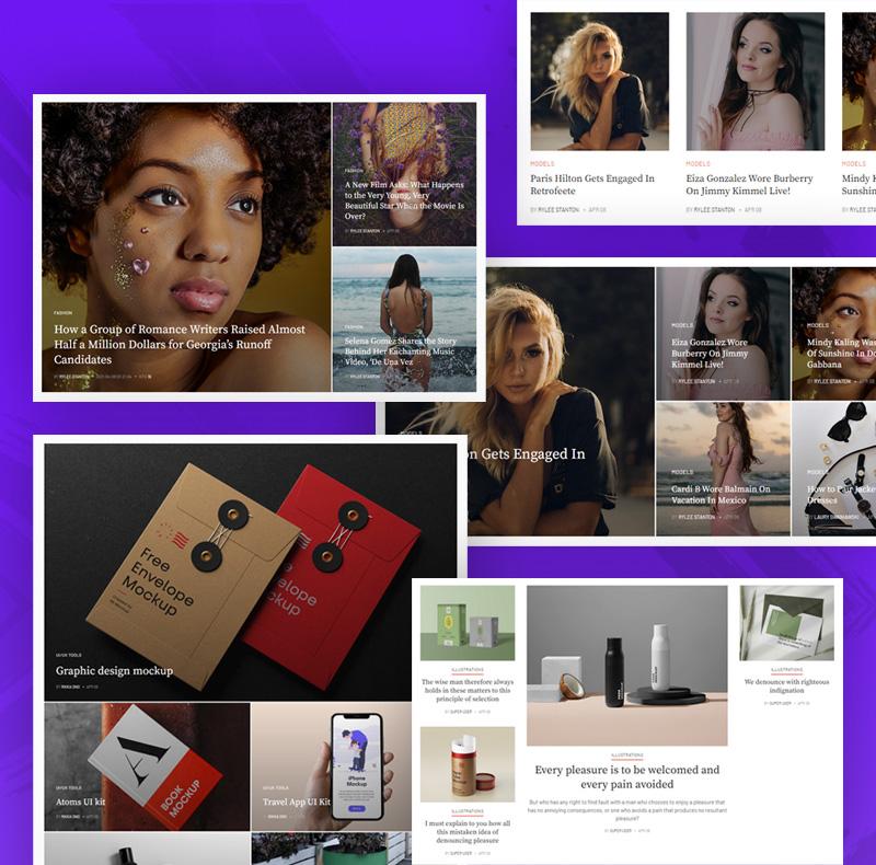 joomla article content display layouts