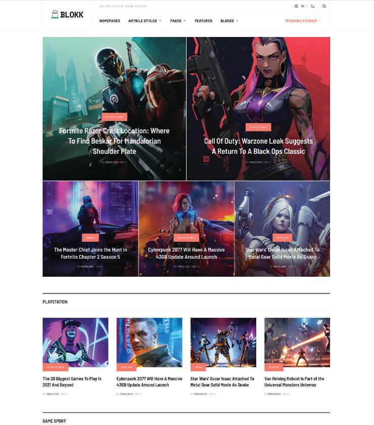 gaming magazine Joomla template