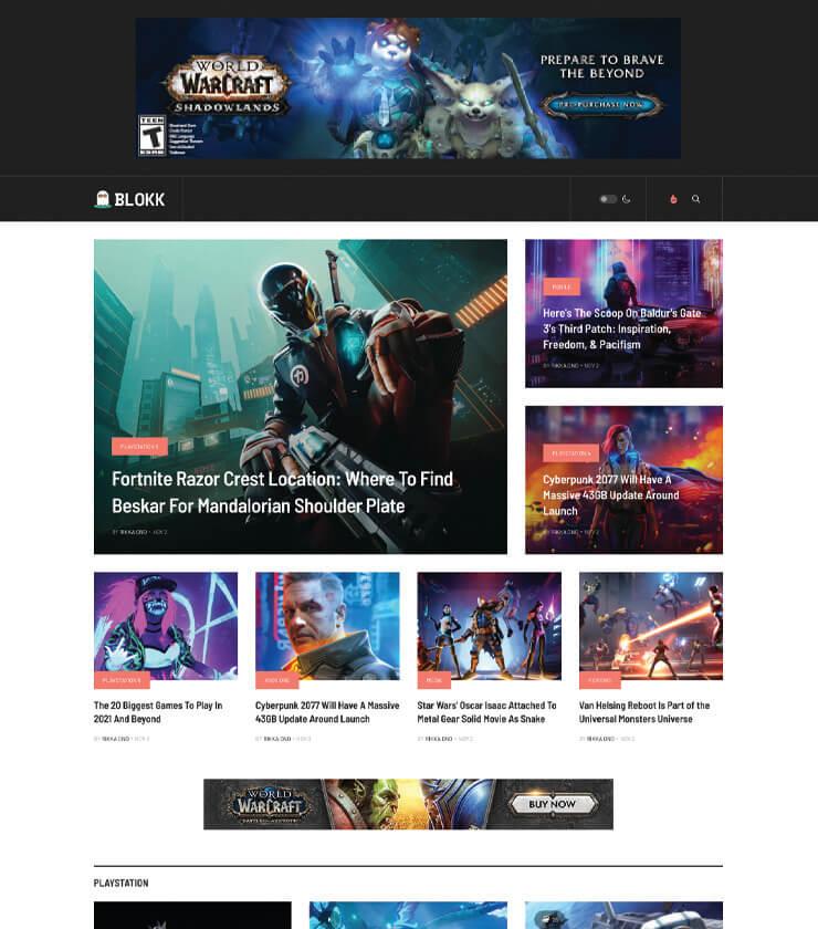 Joomla gaming news template