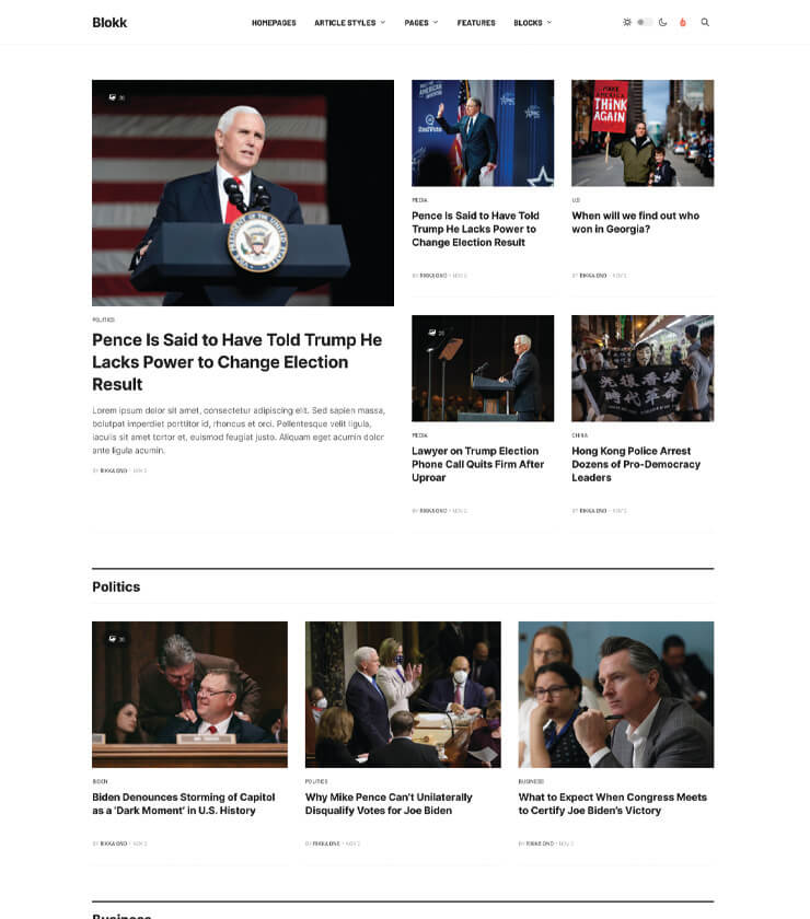 Joomla magazine template