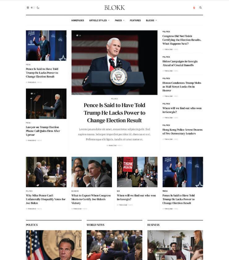magazine Joomla template