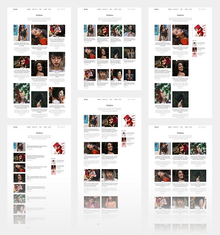 Joomla magazine template category page layouts