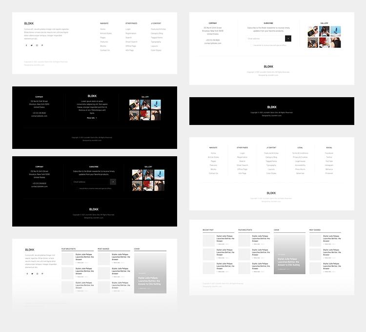 Joomla news template footer styles