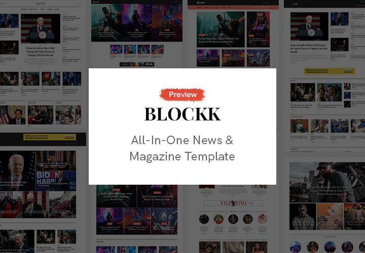 JA Blockk Template Preview & Roadmap - 2021 Featured Template