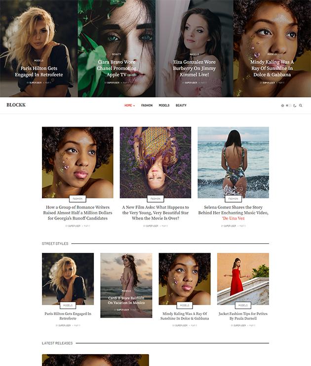 JA blockk joomla magazine template