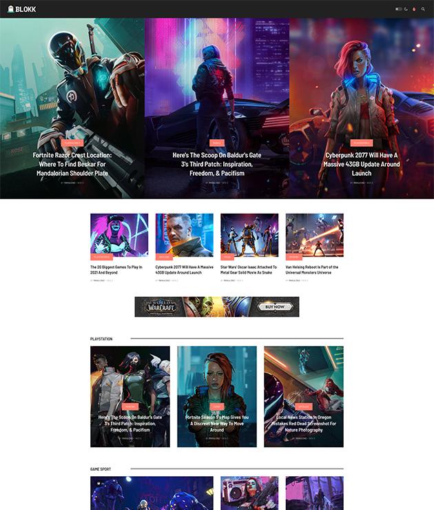 gaming magazine Joomla template - JA Blockk