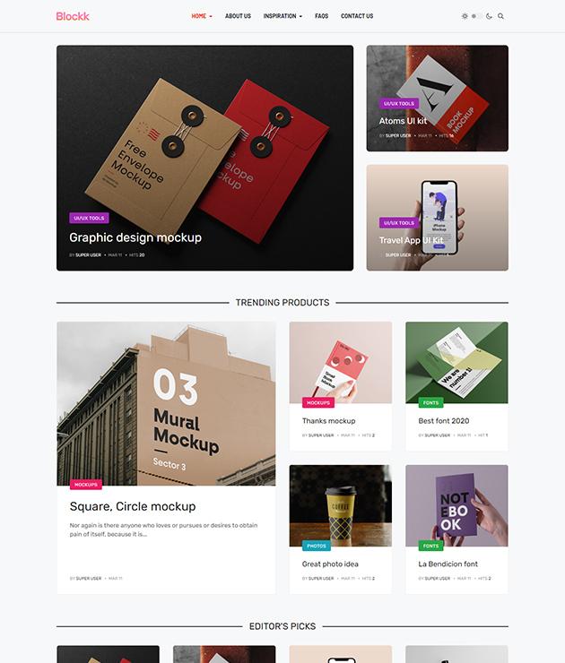 news and magazine Joomla template - JA Blockk