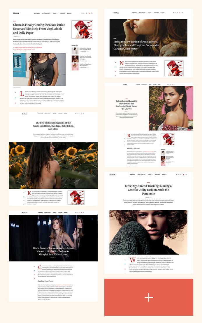 Joomla news template article layouts