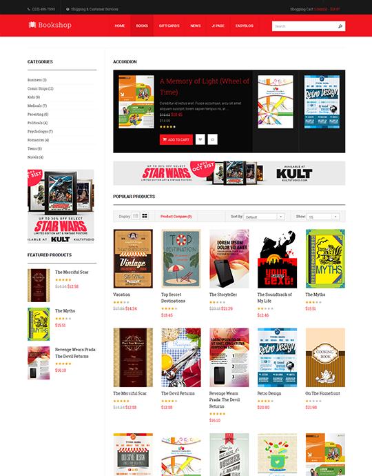 book store Joomla template - JA Bookshop