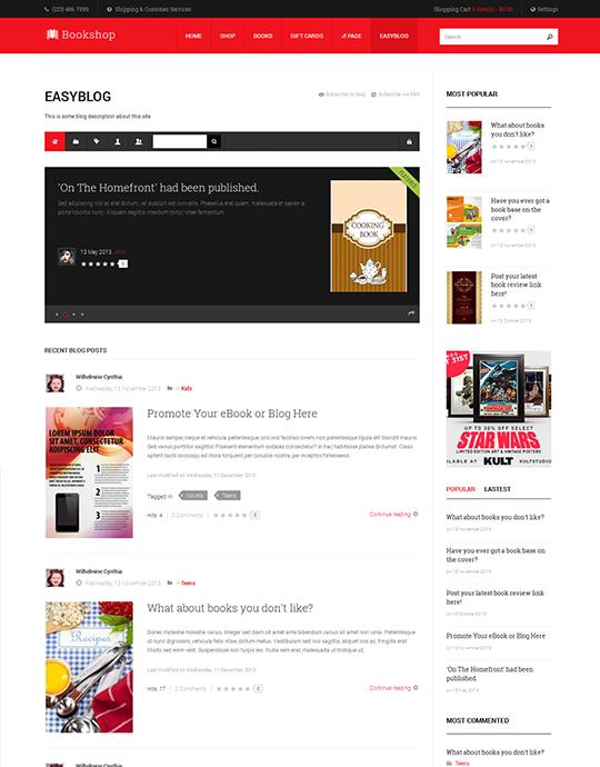 Ja Bookshop Ecommerce Joomla Template For Book Store Websites Joomlart