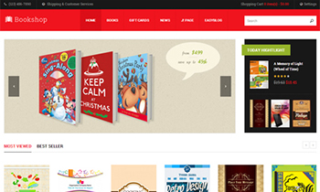 JA Bookshop - eCommerce Joomla Template for book store websites