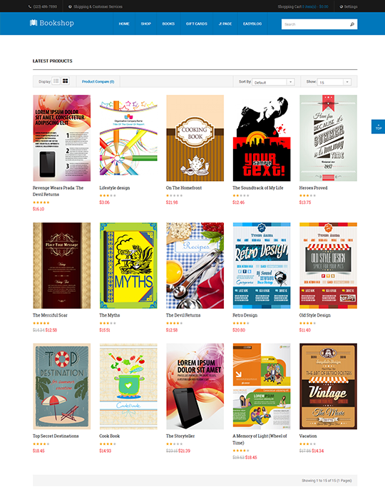 Joomla book store template blue theme - JA Bookshop