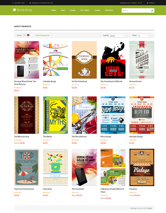 Joomla book store template green theme - JA Bookshop