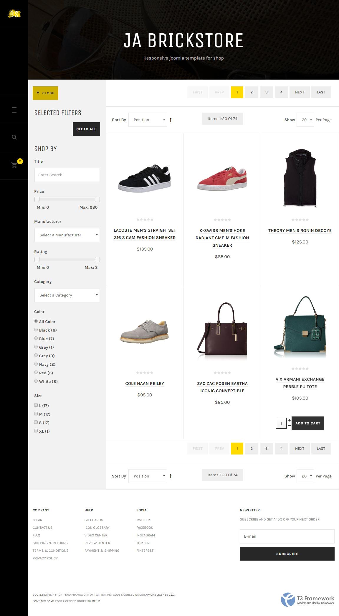 ja decor responsive joomla template preview ja brickstore responsive ecommerce joomla