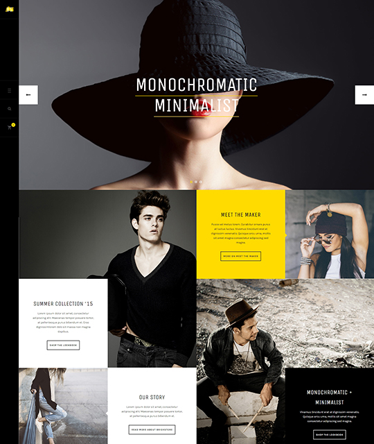 Ecommerce Fashion Store Joomla Template homepage vertical menu - JA Brickstore