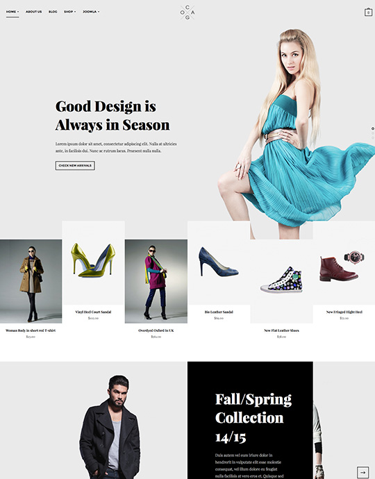 Joomla template for fashion website - JA Cagox