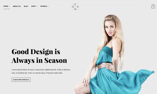JA Cagox - Responsive Joomla template for Fashion Store