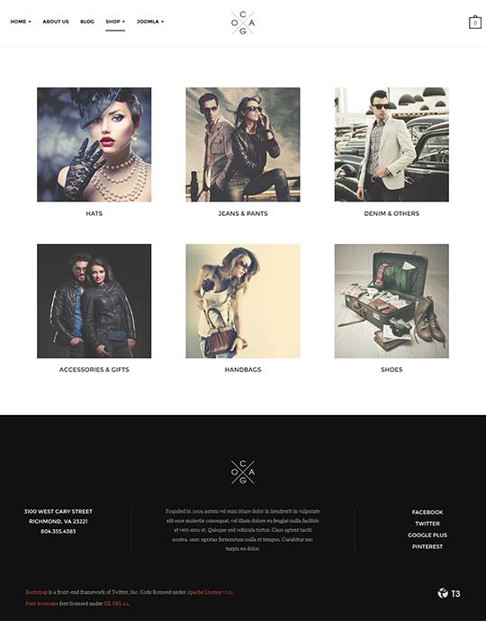 Responsive fashion Joomla template - JA Cagox