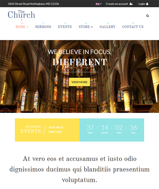 Joomla template for church - JA Charity