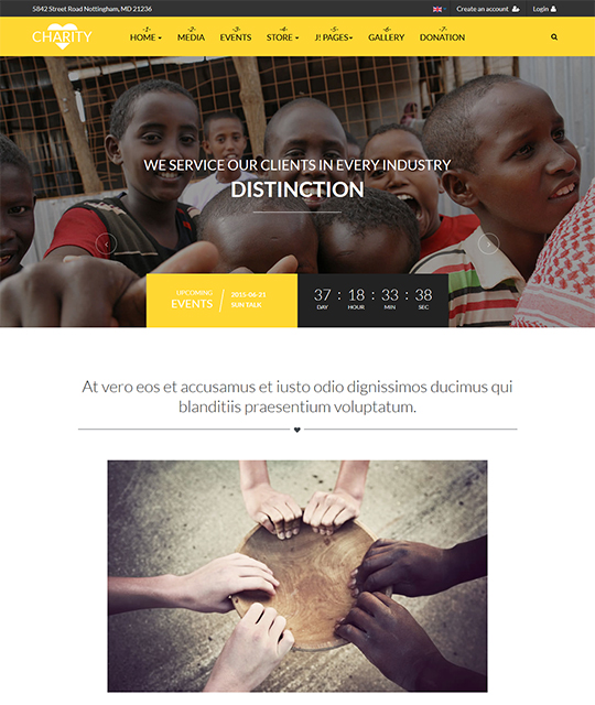 Joomla template for charity website - JA Charity
