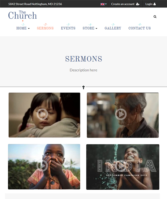 Sermon Joomla template - JA Charity