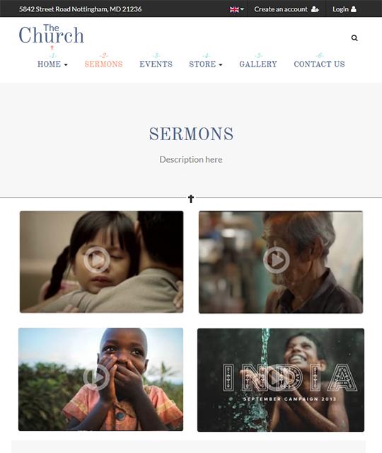 Sermon Joomla template - JA Charity