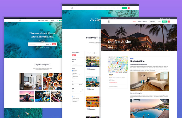 Designed for Travel and tour website